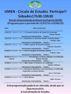 UMEN Convida para o seu Círculo de Estudos da Doutrina Espírita - Niterói - RJ - http://www.agendaespiritabrasil.com.br/2015/08/12/umen-convida-para-o-seu-circulo-de-estudos-da-doutrina-espirita-niteroi-rj/