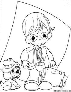 Dibujo de un niño a la escuela