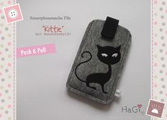 Iphone Case Felt Kittie Smartphone Case by HerzigGenaehtes on Etsy, €18.80