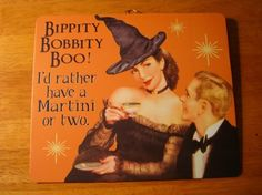 Vintage Style Retro Halloween Pin Up Girl Witch Bar Party Decor Sign Martini   eBay