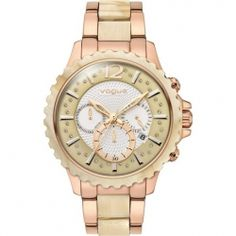 VOGUE Wild Crystals Rose Gold Stainless Steel Chronograph Bracelet 97012.2