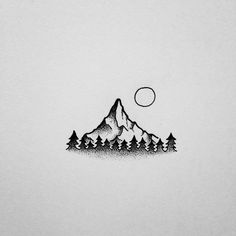 drawings sketches mountain simple drawing mini david rollyn easy mountains tattoo tattoos sketch pencil draw fun doodle tribe quest called