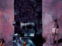 Brad Holland, textures, colour, blurred