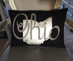 Custom State Pillow by CustomizedByOBC on Etsy