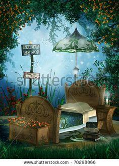 Enchanted garden bed