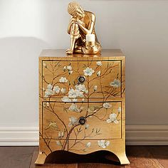 Our Sayuri Furniture features beautiful hand painted blossom and birds sitting on an antique effect gold finish.