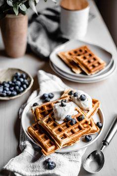 Yummy Waffles, Blueberry Waffles, Beignets, Breakfast Photography, Food Photography, Nutella, Pancakes, Mardi Gras, Flyer Design