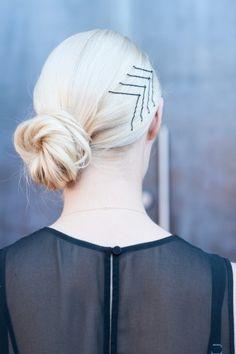 chevron bobby pins  #hair #styles