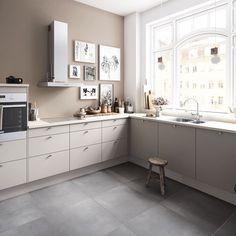 Kjøkkendesign til det moderne liv: Finn dine nye kjøkkenmøbler Kitchen Unit Doors, Kitchen Cabinets, Nordic Kitchen, New Kitchen, Kitchen Interior Inspiration, Kitchen Models, Home Kitchens, Sweet Home, House Design