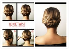Image result for easy updos for short hair step by step