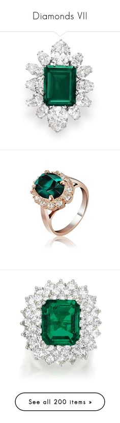 """""""Diamonds VII"""" by mehrak ❤ liked on Polyvore featuring home, home decor, jewelry storage, rings, jewelry, emerald green home decor, elizabeth taylor, jewellery box, rose gold crystal ring and rose gold ring"""