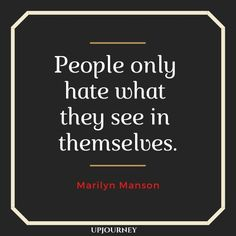 Marilyn Manson is one of the most controversial figures in the music industry. Here are the top quotes that explore his views about life, music and more. Top Quotes, Best Quotes, Life Quotes, Marilyn Manson Quotes, Lyrics Aesthetic, Family Quotes, Art Music, Make Me Happy, Cool Words