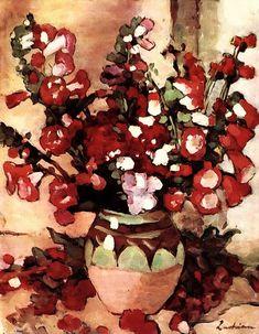 Stefan Luchian Gura leului (1868-1916) Snapdragons Anemone Flower, Flower Art, Thing 1, Wonderful Flowers, Art Database, Botanical Prints, Art World, Impressionism, Still Life