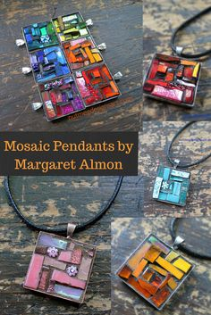 Glass pendants created by Margaret Almon