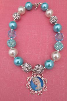 Frozen Disney Elsa Bubble Gum Necklace