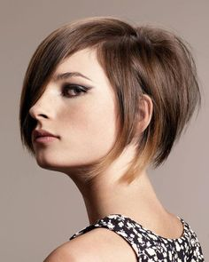 cute short cut and ombre