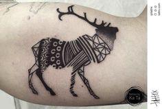 Ka Ta Tattoo - Patterned Stag