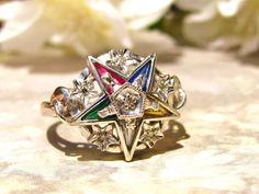 Vintage Order of the Eastern Star Diamond by LadyRoseVintageJewel