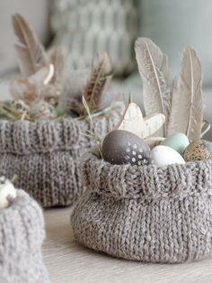 Strickidee zu Ostern: Osterkörbchen selber machen