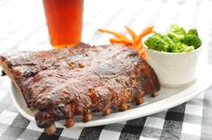 Ribs and a beer at Big Jim's restaurant, Palmetto Dunes, Hilton Head