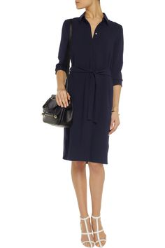 Iris & Ink navy shirt dress - beautiful basic