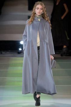 Giorgio Armani fashion collection, autumn/winter 2014 Hollie May Saker