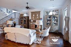 sala de estar-con-blanco-ropa