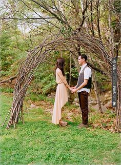 arch made of branches | CHECK OUT MORE IDEAS AT WEDDINGPINS.NET | #weddings