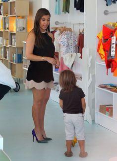 Kourtney Kardashian and Mason Disick shopping in Miami