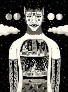"Jon MacNair ""Under Skin"" Art Print"