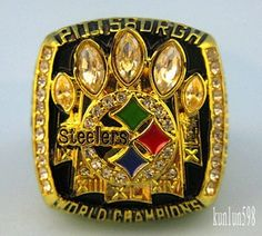 Pittsburgh Steelers~Rare 2005 Pittsburgh Steelers NFL Champions Ring Size:11