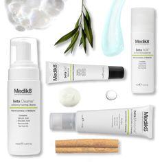 Medik8 beta 4 STEP Regime - For visibly clearer looking skin  1/ CLEANSE - Medik8 betaCleanse 2/PREVENT - Medik8 beta AOX 3/CORRECT - Medik8 beta Gel 4/MOISTURISE - Medik8 beta Moisturise