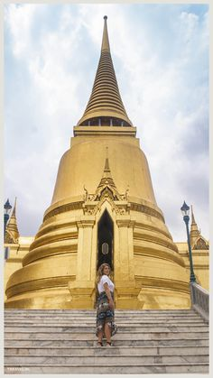 Tempel op het terrein van de Royal Palace. Royal Palace, Bangkok Thailand, House Styles, Temples
