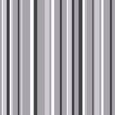 Coloroll Havana Stripe Wallpaper Black / Grey / Silver