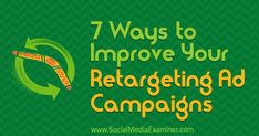 7 Ways to Improve Your Retargeting Ad Campaigns Wondering how efficient your ad spend is? Looking for tips to help you monitor and manage your retargeting campaigns more effectively? Viral Marketing, Email Marketing Strategy, The Marketing, Digital Marketing Services, Internet Marketing, Marketing Videos, Marketing Technology, Marketing Tools, Website Design Pricing