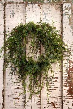 A beautiful running cedar wreath