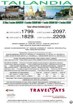 Tailandia: Bangkok, Norte con Triángulo de Oro y Krabi Sep´13 a Mar´14 Desde 1799 € Tasas incluidas - http://zocotours.com/tailandia-bangkok-norte-con-triangulo-de-oro-y-krabi-sep13-a-mar14-desde-1799-e-tasas-incluidas/