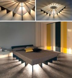 31 Stylish Floating Bed Design Ideas ⋆ Cool home and interior design ideas Platform Bed Designs, Modern Platform Bed, Platform Beds, Floating Platform Bed, Bedroom Furniture, Furniture Design, Bedroom Decor, Furniture Ideas, Bedroom Cabinets