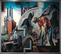 """Thomas Hart Benton's 'America Today' Mural Rediscovered"" celebrates the gift of Benton's epic mural ""America Today"" from AXA Equitable Life Insurance. Benton painted this mural for New York's New School for Social Research to adorn the school's boardroom in its International Style modernist building on West 12th Street. 
