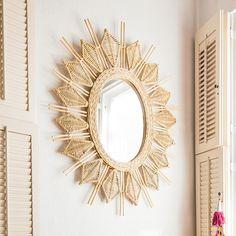 Collection: Justina Blakeney Material: Rattan, Wood, Mirror, Weave Color: Natural Indoor/Outdoor