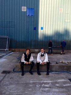 New BTS Pics fromthe set of Outlander -- love this one of Sam & Tobias, the day they filmed the duel.