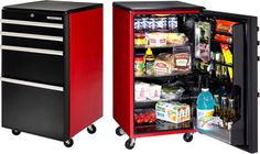 tool chest microfridge...perfect for mancave or garage