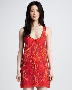 Nanette Lepore Silk Sequined Dreamcatcher Dress