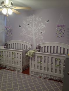 Twin girl nursery