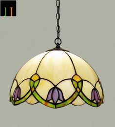 JT Tiffany Floral Style Stained Glass Pendant Light Home Leadlight Home Decor Tiffany Lamp Shade, Tiffany Chandelier, Tiffany Table Lamps, Stained Glass Pendant Light, Stained Glass Lamps, Fused Glass, Stained Glass Flowers, Stained Glass Patterns, Tiffany Glass