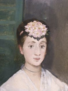 Edouard Manet Portrait of Mademoiselle Claus 1868 | Flickr - Photo Sharing!