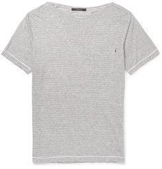 Gucci - Striped Linen-Jersey T-shirt | MR PORTER