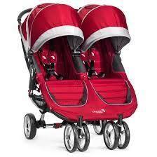 Baby Jogger City Mini Double-Crimson/Gray