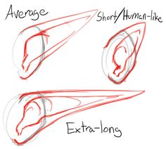 elf ears drawing - Google Search