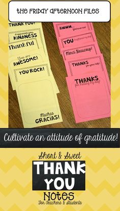 Expressing thanks shouldn't be just for Thanksgiving. Are you looking for an easy way to get your students to express gratitude all year long? I have a quick, inexpensive solution for you—classroom thank you notes!